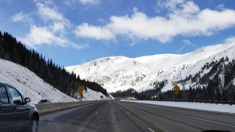 Beaver Creek winter driving conditions