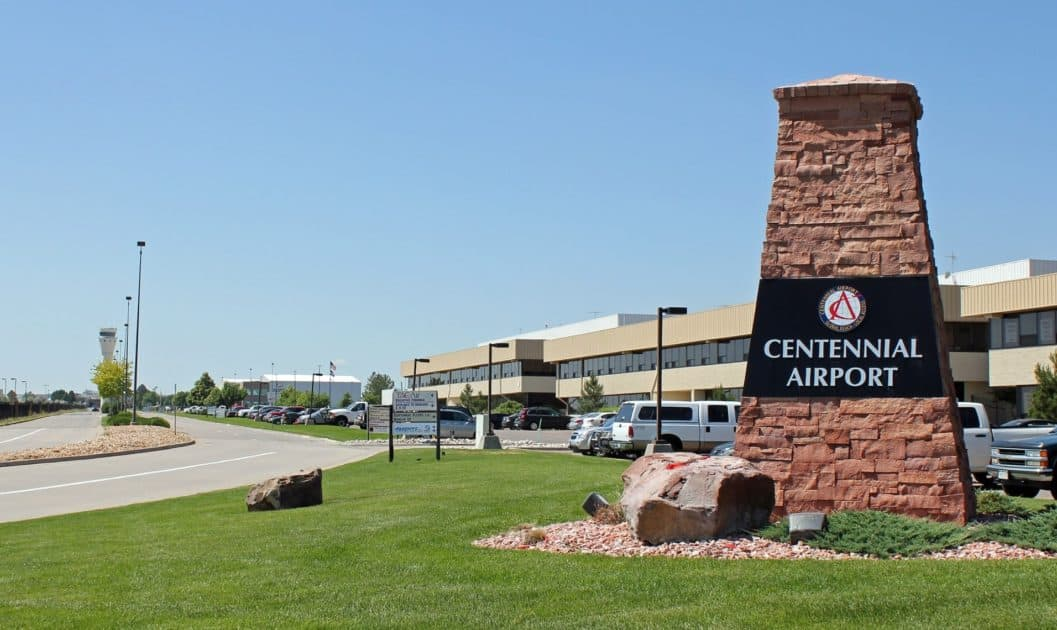 Denver – Centennial Airport – APA Centennial Airport (APA) is conveniently located in the center of The Denver Tech Center, surrounded by 23 individual business parks, and only 13 miles from downtown Denver. The airport opened on May 13, 1967 and has steadily grown to become one of the most important business partners in the region.